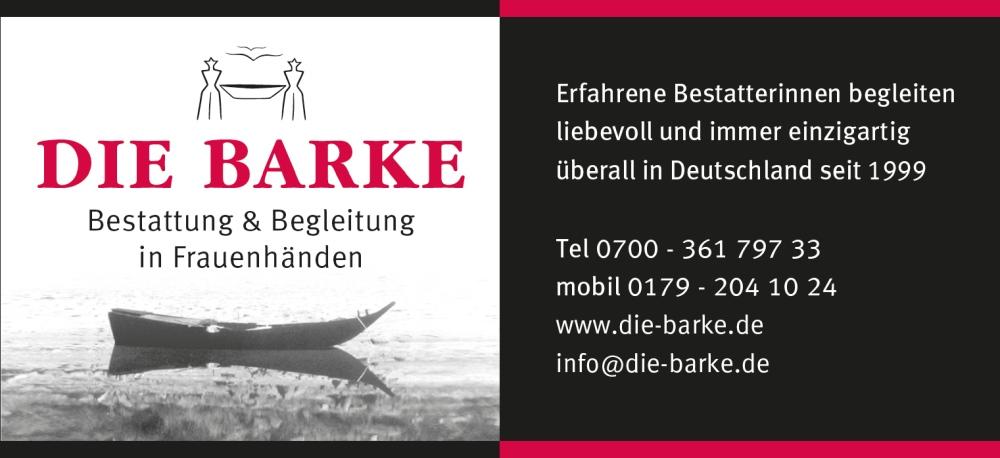 Visitenkarte von Die Barke - Bestattung & Begleitung in Frauenhänden