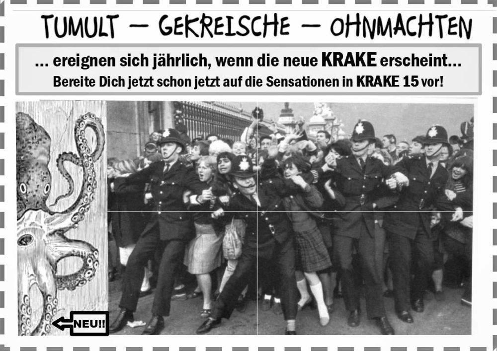 Werbeplakat der Krake - feministisches Untergrundmagazin