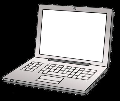 Ein aufgeklappter Laptop