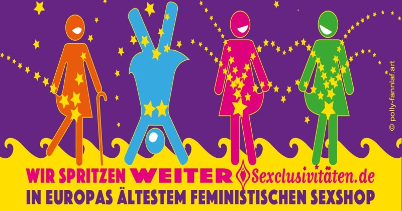 Flyer Sexclusivitäten - Europas ältester feministischer Sexshop