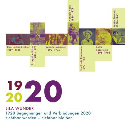 """Plakat """"Lila Wunder"""" - Begegnungen und Verbindungen 2020 sichtbar werden - sichtbar bleiben"""